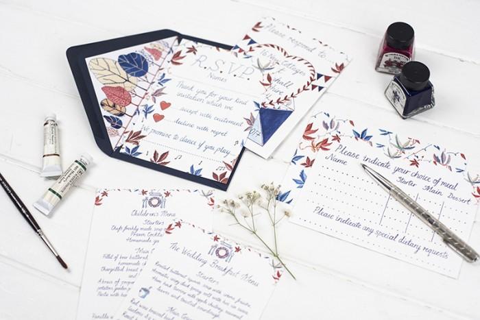 Bespoke wedding stationery – Bethany and Ollie