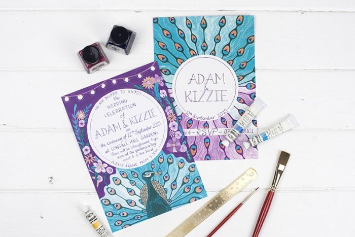 Bespoke wedding stationery – Adam and Kizzie