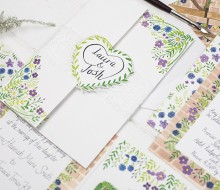 Illustrated wedding stationery – Laura and Josh