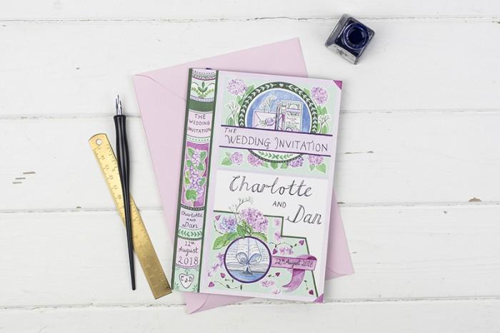 Bespoke wedding stationery – Charlotte and Dan