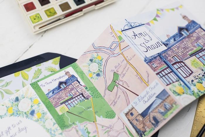 Bespoke wedding stationery – Amy and Shaun