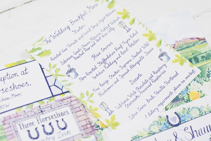 Bespoke wedding stationery – Amy and Shaun