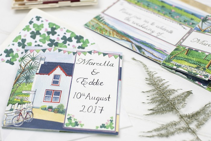 Wedding stationery – Marcella and Eddie