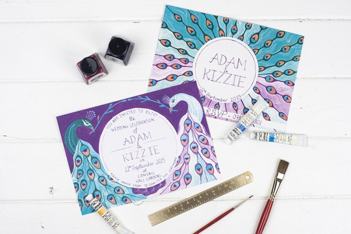 Bespoke wedding stationery – Adam and Kizzie