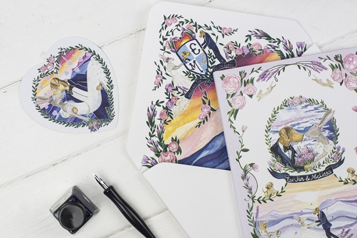 Bespoke wedding stationery – Melissa and Eu-Jin